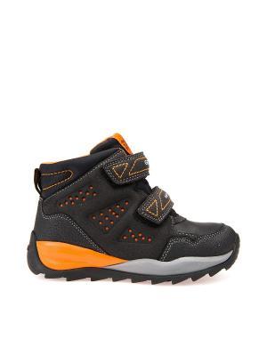 Ботинки GEOX. Цвет: черный, оранжевый
