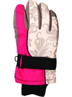 Перчатки YO!. Цвет: серый, розовый