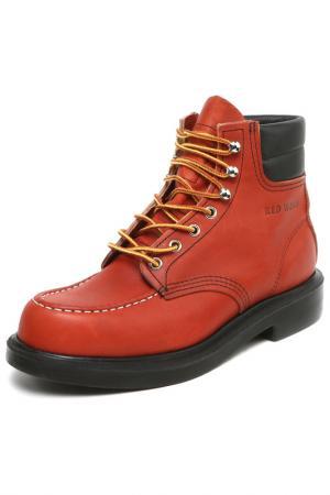 Ботинки RED WING. Цвет: красный