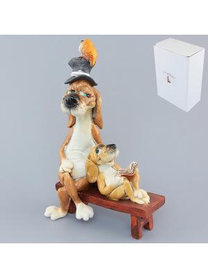 Фигурка декоративная Друзья на отдыхе Elan Gallery. Цвет: коричневый, белый