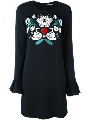 Платье с вышивкой Markus Lupfer. Цвет: чёрный