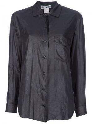 Классическая рубашка Issey Miyake Vintage. Цвет: зелёный