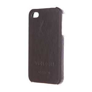 Чехол для iPhone  unity 4s Case Vintage Brown Volcom. Цвет: черный