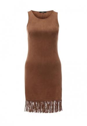 Платье Mim. Цвет: коричневый