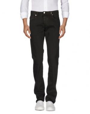 Джинсовые брюки TRAMAROSSA. Цвет: темно-зеленый