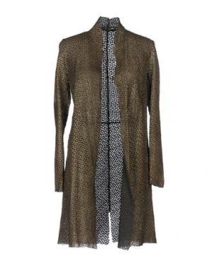 Легкое пальто SALVATORE SANTORO. Цвет: хаки