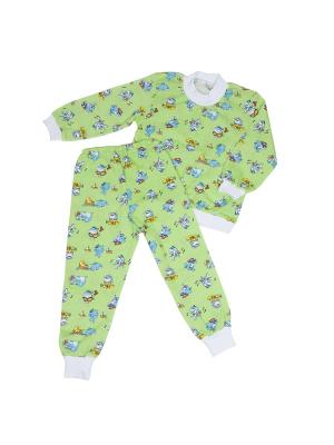 Пижама Клякса. Цвет: зеленый