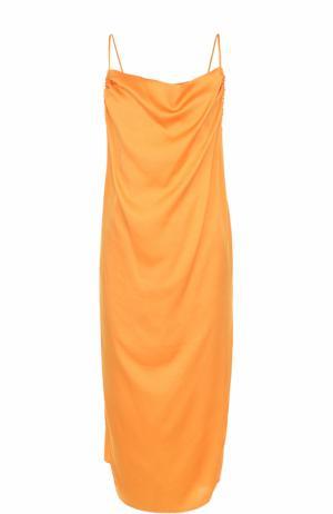Платье свободного кроя на тонких бретельках Iro. Цвет: оранжевый