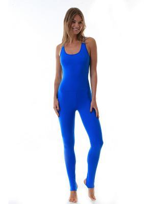 Комбмнезон Blue Urban Yoga. Цвет: лазурный