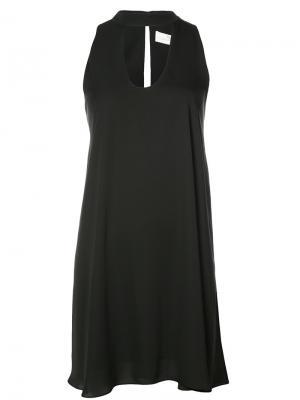 Платье с чокером без рукавов Amanda Uprichard. Цвет: чёрный