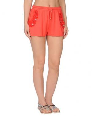 Пляжные брюки и шорты PATRIZIA PEPE BEACHWEAR. Цвет: коралловый