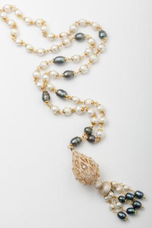 Колье Ювелирная коллекция Patricia Bruni. Цвет: белый