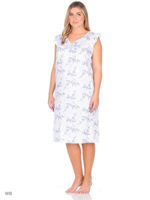 Ночная сорочка Magwear. Цвет: белый, голубой