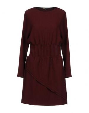 Короткое платье MAJE. Цвет: красно-коричневый