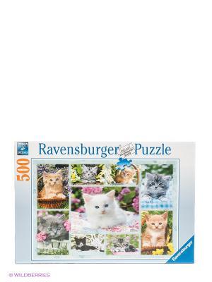 Паззл Галерея котят 500 шт Ravensburger. Цвет: белый, голубой, оранжевый, серый, синий
