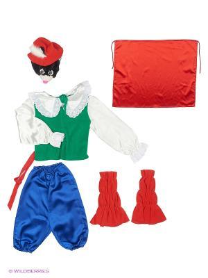 Кот в спогах, карнавальный костюм Волшебный мир. Цвет: красный