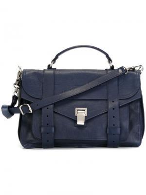 Средняя сумка-сэтчел  PS1 Proenza Schouler. Цвет: синий