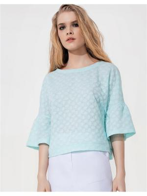 Блузка LO. Цвет: лазурный