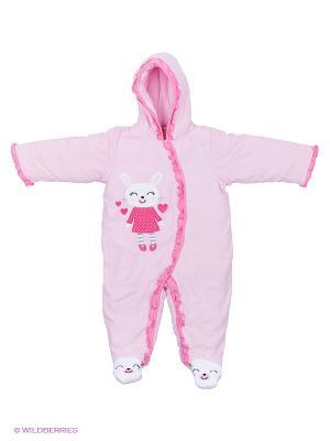 Комбинезон вельветовый на синтепоне Kidly. Цвет: розовый