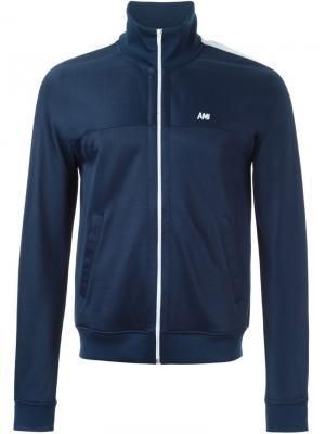 Спортивная куртка на молнии Ami Alexandre Mattiussi. Цвет: синий