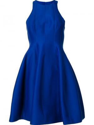 Расклешенное платье Halston Heritage. Цвет: синий