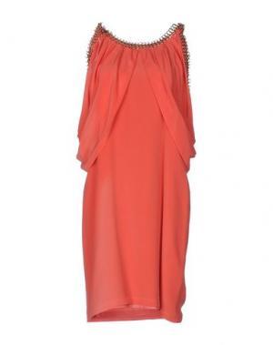 Короткое платье ELLA LUNA. Цвет: коралловый