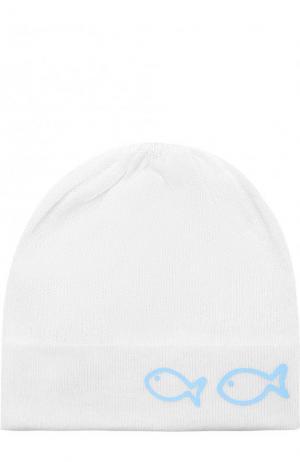Хлопковая шапка Il Trenino. Цвет: белый
