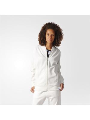 Бомбер XBYO TRACKTOP Adidas. Цвет: белый