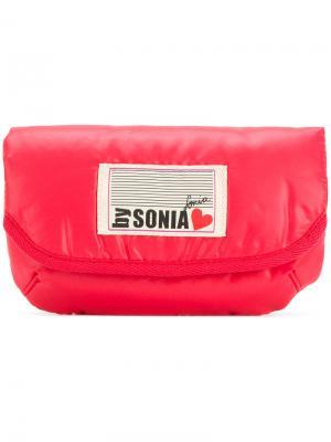 Косметичка с логотипом Sonia By Rykiel. Цвет: красный