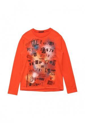 Лонгслив Sisley. Цвет: оранжевый