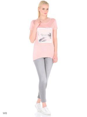 Лонгслив Modis. Цвет: бледно-розовый, коралловый