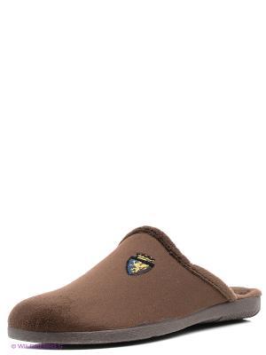 Испанские тапочки Mon Ami. Цвет: коричневый, черный