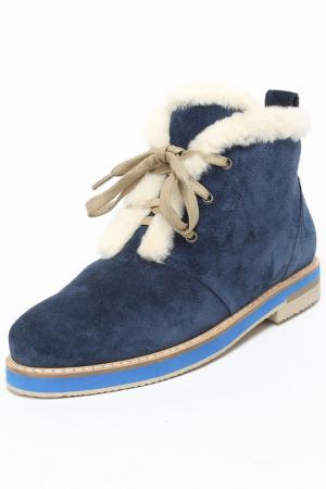 Ботинки Gode. Цвет: голубой