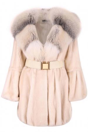Меховое пальто Bellini. Цвет: перламутровый