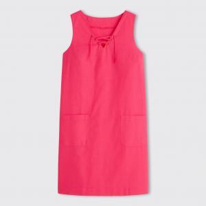 Платье из льна/хлопка R édition. Цвет: зеленый хаки,розовый фуксия,синий морской,черный