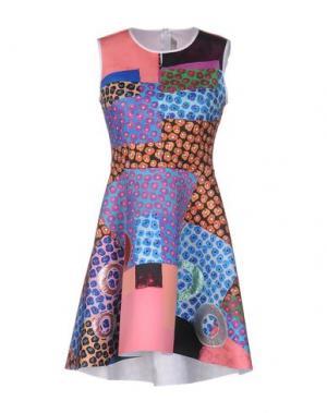 Короткое платье CLOVER CANYON. Цвет: лазурный