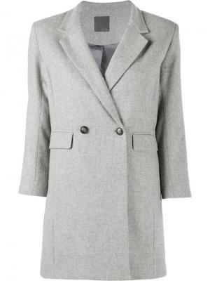 Пиджак бойфренда Lot78. Цвет: серый
