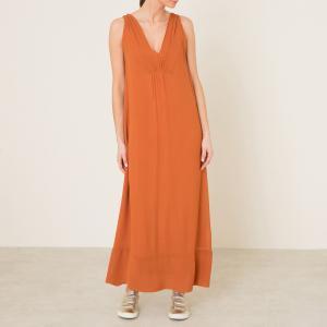 Платье длинное POMANDERE. Цвет: оранжевый