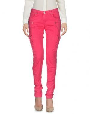 Повседневные брюки PARIS HILTON. Цвет: фуксия