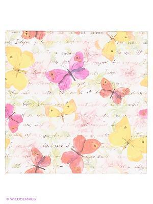 Art Холст Строчки и бабочки DECORETTO. Цвет: фиолетовый, розовый, желтый, белый