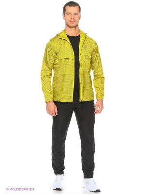 Куртка fuzeX PACKABLE JACKET ASICS. Цвет: желтый
