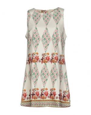 Короткое платье ANNA F.. Цвет: слоновая кость