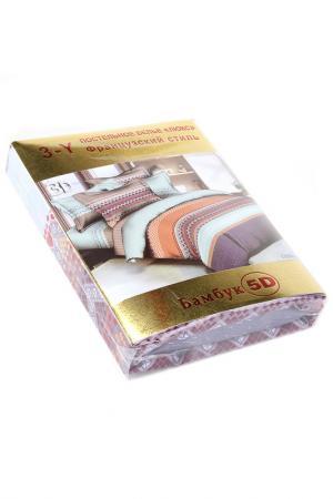 Постельное белье евро 70x70 Французский стиль. Цвет: мультиколор