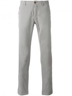 Классические брюки Closed. Цвет: серый