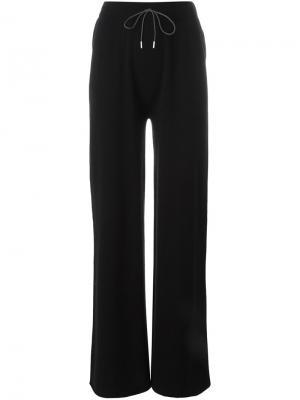 Расклешенные брюки Fabiana Filippi. Цвет: чёрный