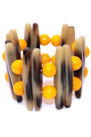 Браслет Конго Divetro. Цвет: бежевый, оранжевый