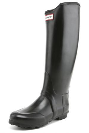 Резиновые сапоги Hunter. Цвет: черный