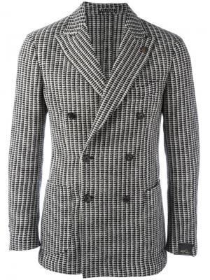 Двубортный пиджак Gabriele Pasini. Цвет: чёрный