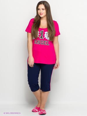Пижама PELICAN. Цвет: розовый, темно-синий