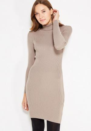 Платье Vay. Цвет: бежевый